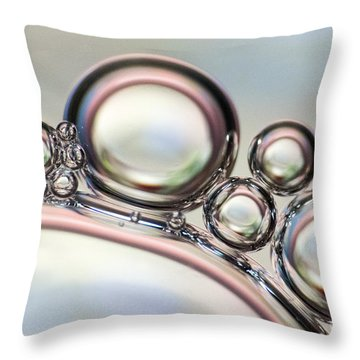 Air Bubbles Throw Pillow