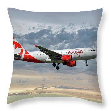 Air Canada Rouge Airbus A319-114 Throw Pillow