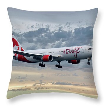 Air Canada Rouge Boeing 767-333 Throw Pillow