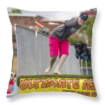 Air Dog 8 Throw Pillow