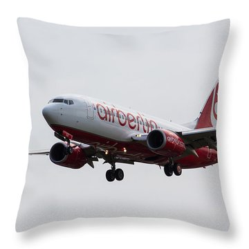 Airberlin Boeing 737 Throw Pillow