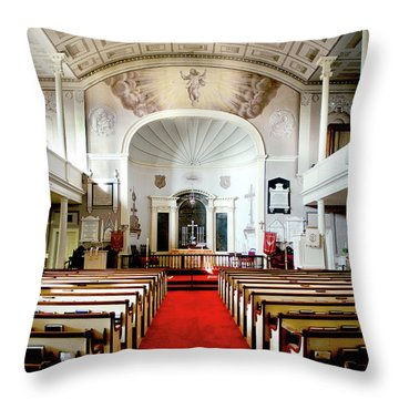 Aisle Of God Throw Pillow by Greg Fortier