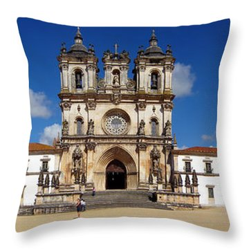 Alcobaca Monastery Throw Pillow by Jose Elias - Sofia Pereira