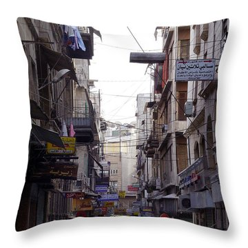 Aleppo Street01 Throw Pillow