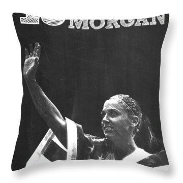 Alex Morgan Throw Pillow by Semih Yurdabak