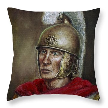 Alexander The Great Throw Pillow by Arturas Slapsys