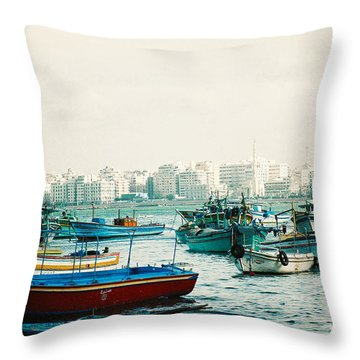 Alexandrian Harbour Throw Pillow
