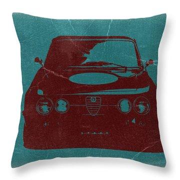 Alfa Romeo Gtv Throw Pillow by Naxart Studio