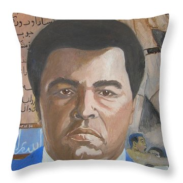 Ali Throw Pillow by Nigel Wynter