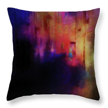 Throw Pillow featuring the mixed media Alice by Jim  Hatch