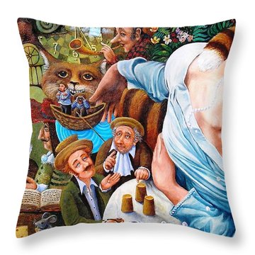 Throw Pillow featuring the painting Alice Wake Up by Igor Postash