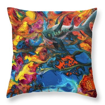 Alien Sea Throw Pillow