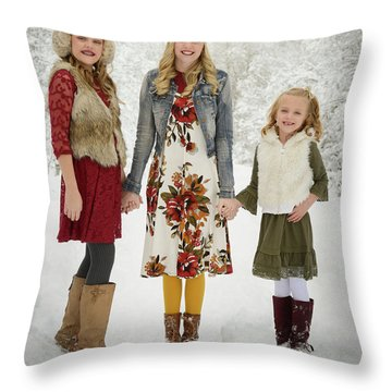 Alison's Family Throw Pillow