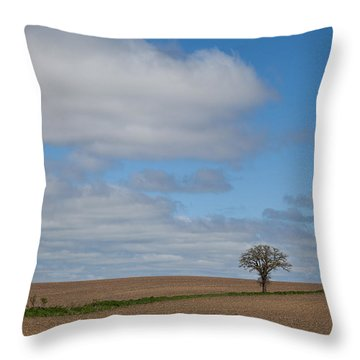 All Alone Throw Pillow