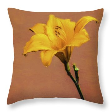 All By Myself  ...  Throw Pillow by Chuck Caramella