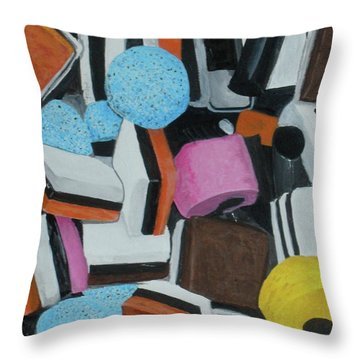 All Sorts Throw Pillow by Betty-Anne McDonald