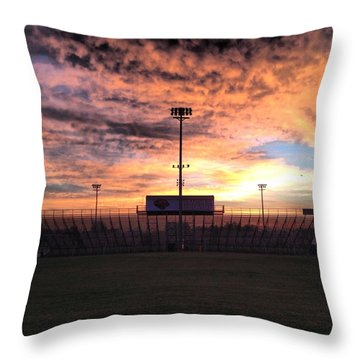 Alma High School Don Miller Field Sunrise Bleachers Throw Pillow