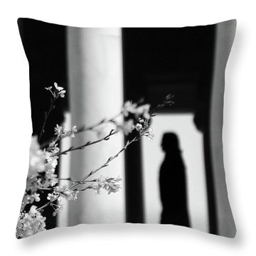 Throw Pillow featuring the photograph Alone by Mitch Cat