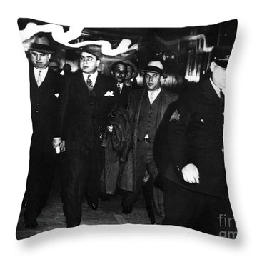 Alphonse Capone (1899-1947) Throw Pillow