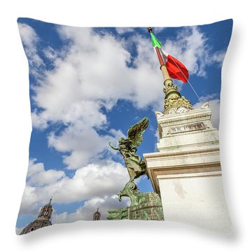 Altare Della Patria Roma Throw Pillow