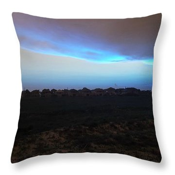 Alternate Sunset Blue Throw Pillow
