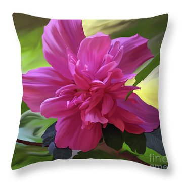 Althea Hibiscus I Throw Pillow by Patricia Griffin Brett