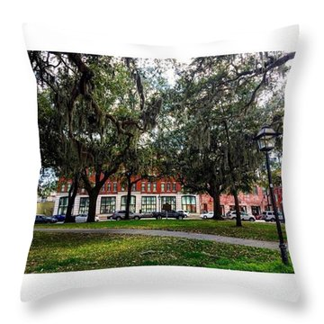 Georgia On My Mind Throw Pillow by Janel Cortez