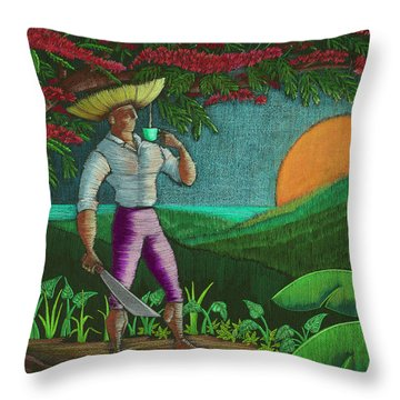 Amanecer En Borinquen Throw Pillow