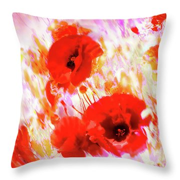 Amapolas Throw Pillow