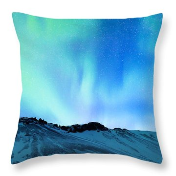 Amazing Northern Light Throw Pillow