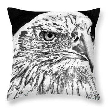 American Bald Eagle Throw Pillow by Bill Richards