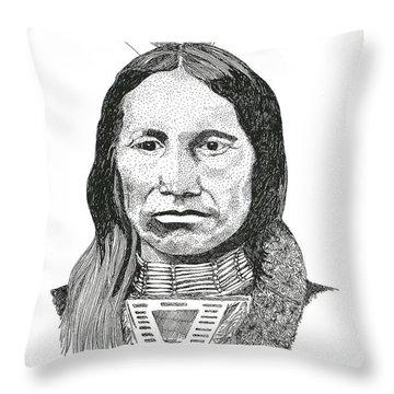 American Horse Throw Pillow