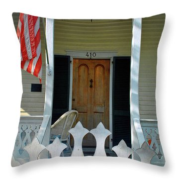 Throw Pillow featuring the photograph American Porch by Jost Houk