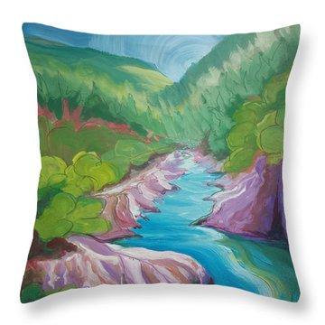 American River 1 Throw Pillow