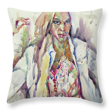 Amethyst Throw Pillow by Becky Kim