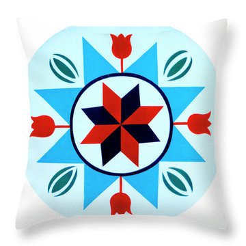 Throw Pillow featuring the photograph Amish Hex Design by Paul W Faust - Impressions of Light