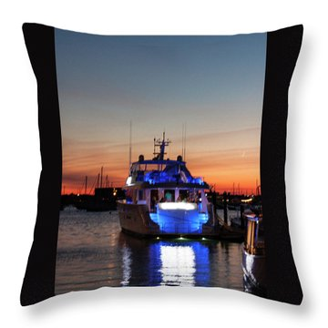 Throw Pillow featuring the photograph An Evening In Newport Rhode Island by Suzanne Gaff