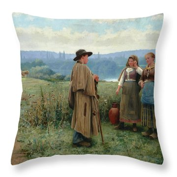 An Idle Moment Throw Pillow