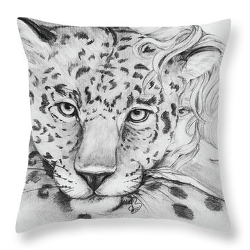 Anam Leopards Throw Pillow