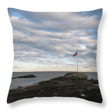 Anchor Beach Throw Pillow