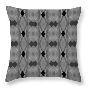 Ancient Carvings In Grays Throw Pillow