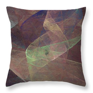 Throw Pillow featuring the digital art Andee Design Abstract 66 2017 by Andee Design