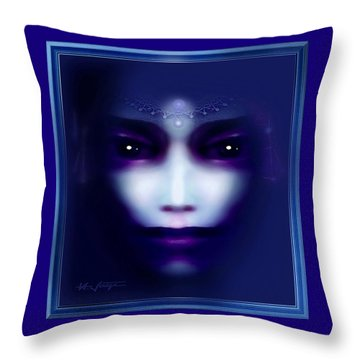 Angel  Blue Throw Pillow by Hartmut Jager