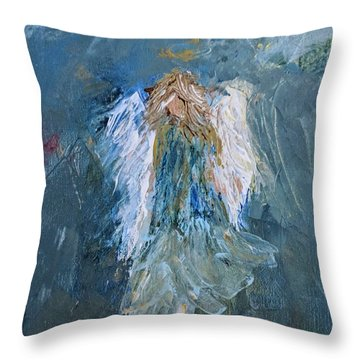 Angel Girl Throw Pillow