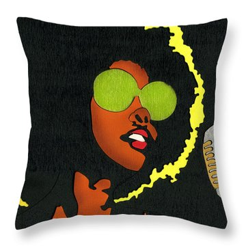 Angela Sings Throw Pillow