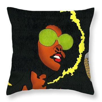 Angela Sings Throw Pillow