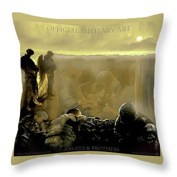 Angels And Brothers Throw Pillow by Todd Krasovetz