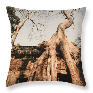 Throw Pillow featuring the photograph Angkor Wat by Juergen Held