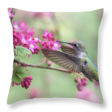 Throw Pillow featuring the photograph Anna In Spring by Angie Vogel