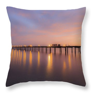 Anna Maria City Pier , Anna Maria Island Sunrise  Throw Pillow